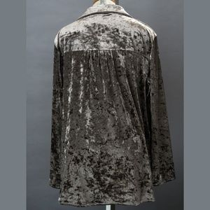 Andree Tops - blouse Andree by Unit metallic velvet style XL